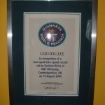 Сертификат Гиннеса за рекорд скорости на квадрацикле