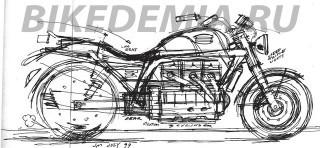 Завод Триумф: дизайнерский эскиз мотоцикла Triumph Rocket III