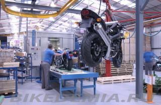 Сектор упаковки мотоциклов Triumph