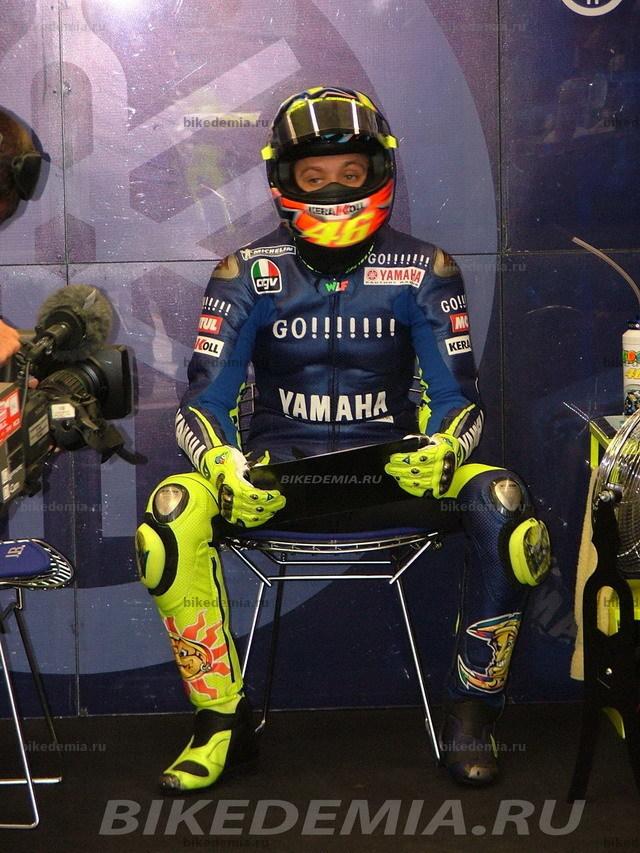 Валентино Росси готовится выйти на старт Гран-при Турции.