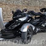 Can-Am Spyder с поднятыми багажником и седлом