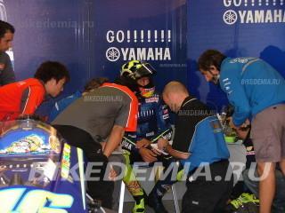 Валентино Росси, бокс команды Yamaha