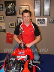John McGuinness на мотошоу в GMEX-центре, Манчестер