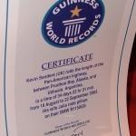 Сертификат Гиннеса, выданный Кевину Сандерсу