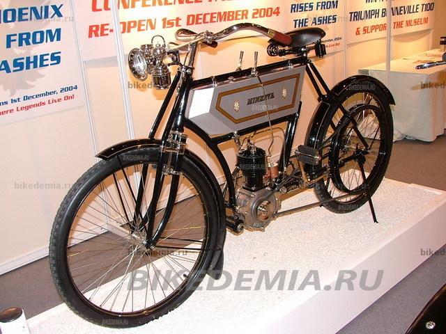 Старинный мотоцикл Minerva