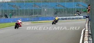 Silverstone: финишный клетчатый флаг