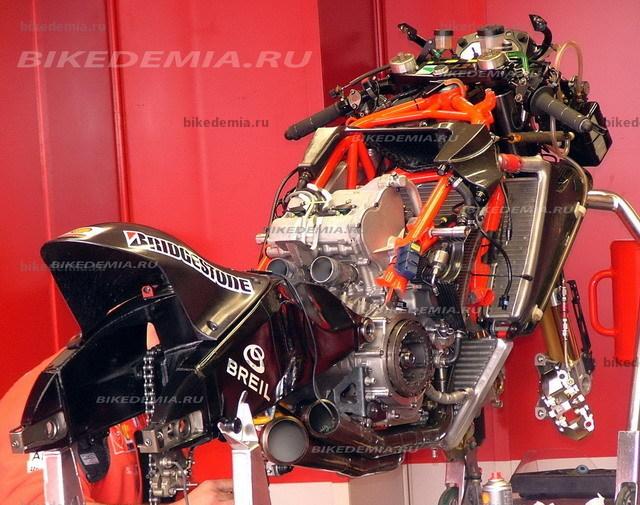Двигатель V-4 Ducati Desmosedici