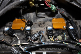Тюнинг Suzuki GSX-R1000: установка заглушек системы PAIR