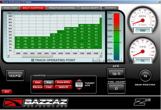 Экран самонастройки карты впрыска BAZZAZ