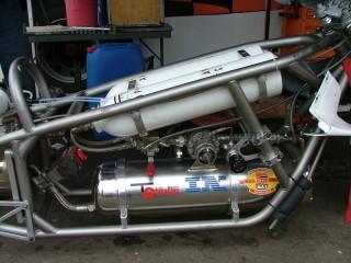Топливная система мотоцикла с реактивным двигателем