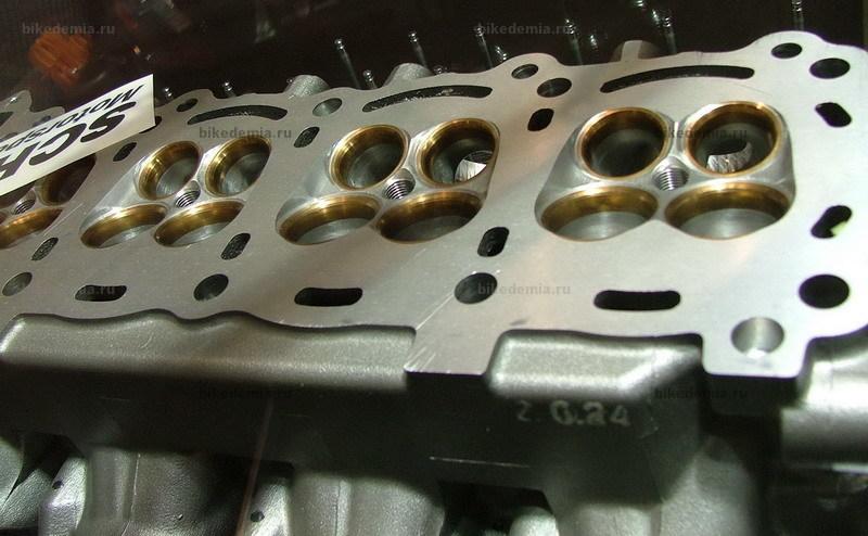 Головка двигателя после доработки