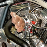 Заглушка впускного тракта мотоцкла для дрэгрейсинга на базе Harley-Davidson
