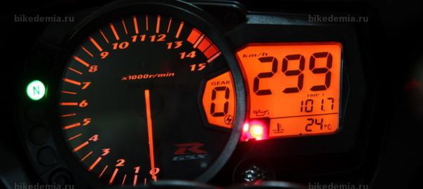 299 км/ч - максималка на спидометре джиксера
