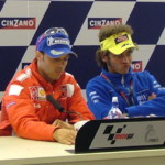 MotoGP: Валентино Росси в пресс-центре трассы Донингтон